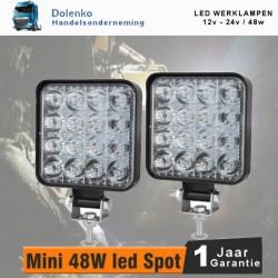LED WERKLAMPEN 12-24 volt - 48 watt.